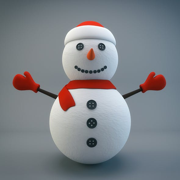 Cartoon Snowman