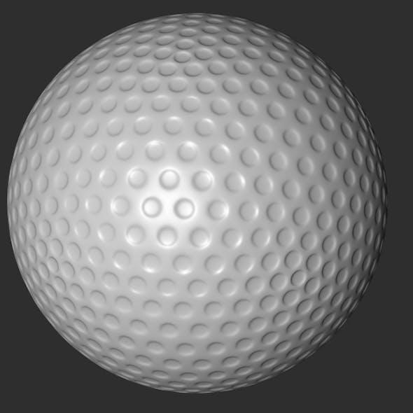 C4D Golf Ball Model