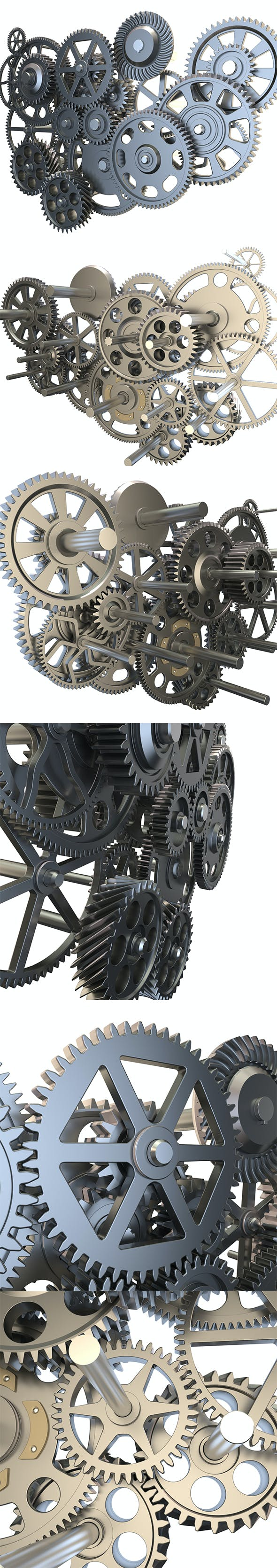 Gear mechanism set - 3DOcean Item for Sale