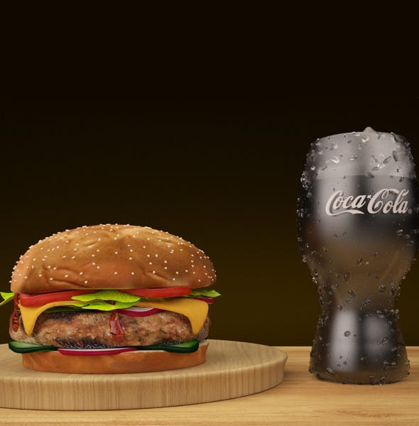 BURGER AND COKE - 3DOcean Item for Sale