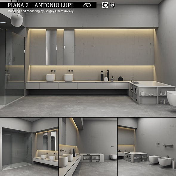 Bathroom furniture set Piana 2