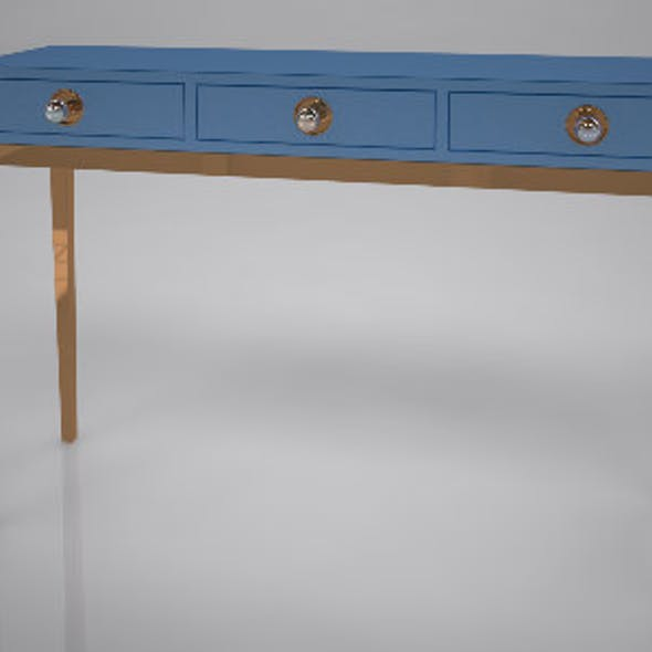Channing Three-Drawer Console