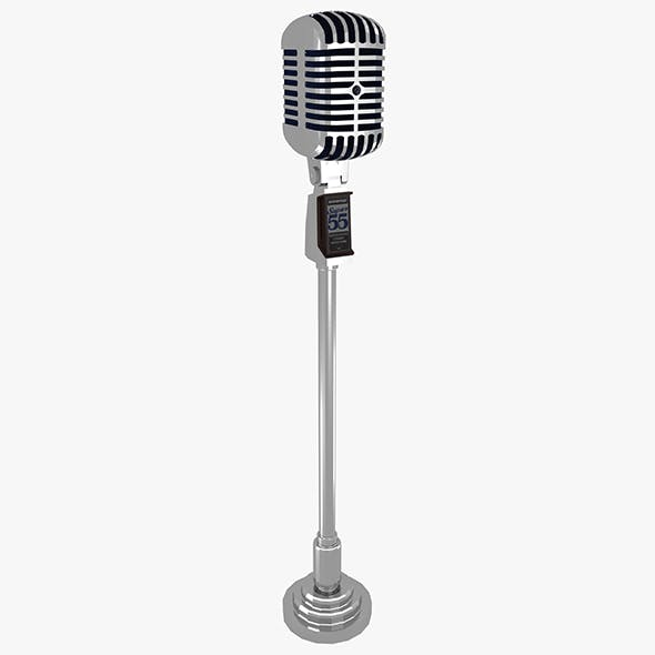 Vintage Microphone With Stan - 3DOcean Item for Sale
