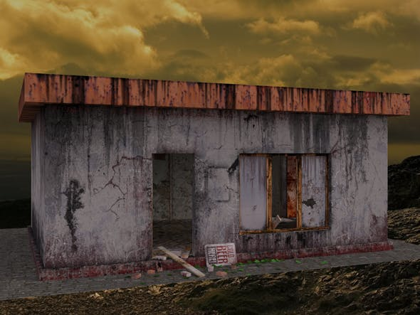 Beer bar in the apocalyptic world - 3DOcean Item for Sale