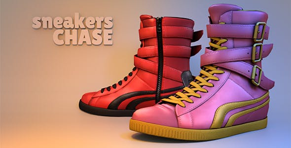Chase Sneakers - 3DOcean Item for Sale