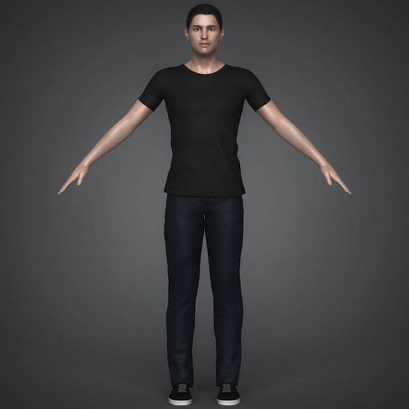 Photoreal Young Handsome Man - 3DOcean Item for Sale