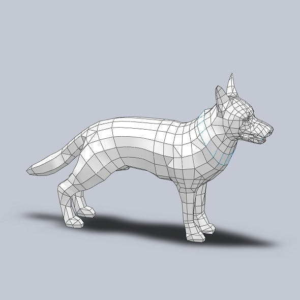 DOG (LOW POLY) - 3DOcean Item for Sale
