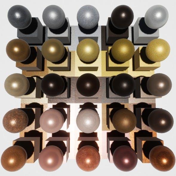 Brushed Metal Mobile Materials Package Volume 2 - 3DOcean Item for Sale