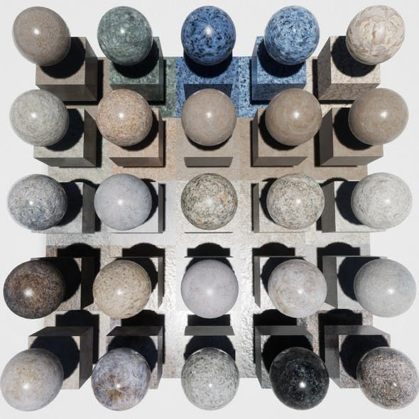 Marble Mobile Materials Package Volume 2 - 3DOcean Item for Sale