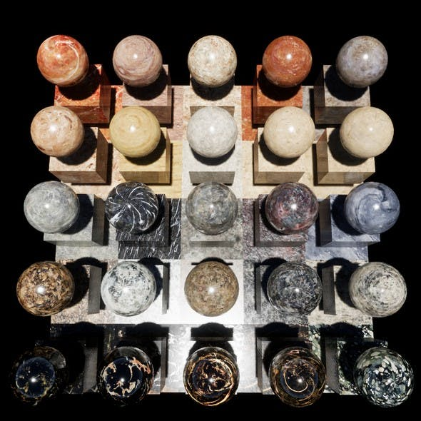 Marble Console Materials Package Volume 1 - 3DOcean Item for Sale