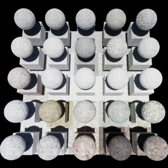Plaster Console Materials Package Volume 1 - 3DOcean Item for Sale