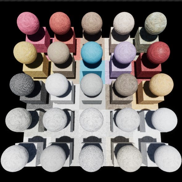 Plaster Console Materials Package Volume 2 - 3DOcean Item for Sale