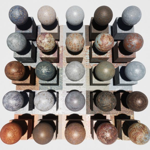Rusty Metal Mobile Materials Package Volume 2 - 3DOcean Item for Sale