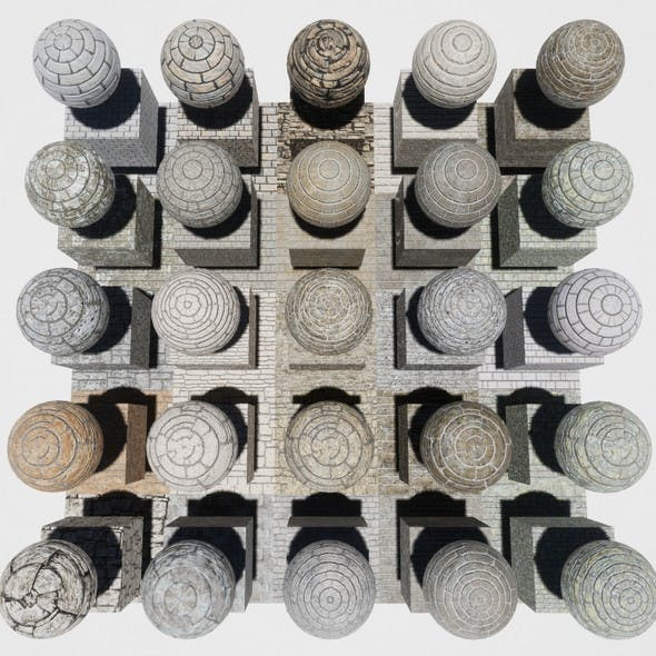 Stone Block Mobile Materials Package Volume 1 - 3DOcean Item for Sale