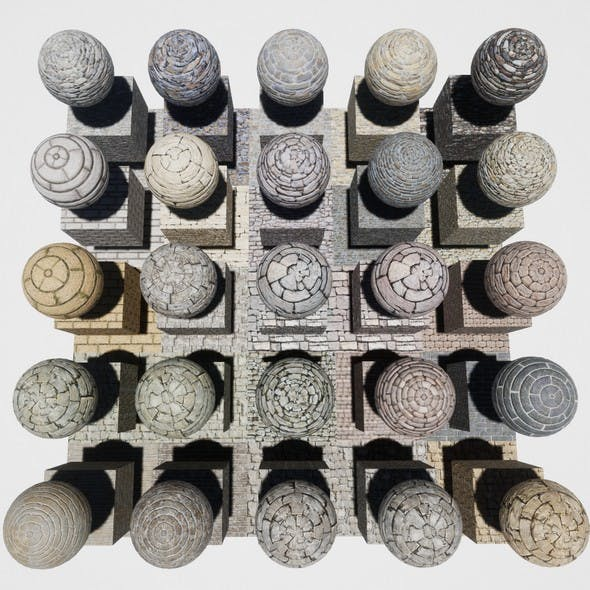 Stone Block Mobile Materials Package Volume 2 - 3DOcean Item for Sale