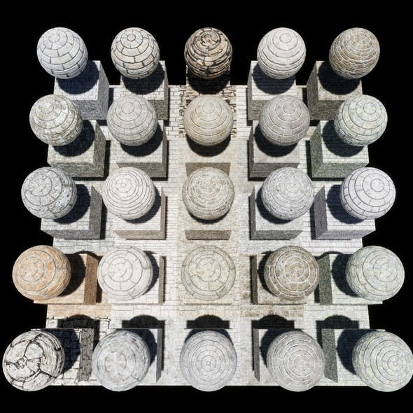 Stone Block Console Materials Package Volume 1 - 3DOcean Item for Sale