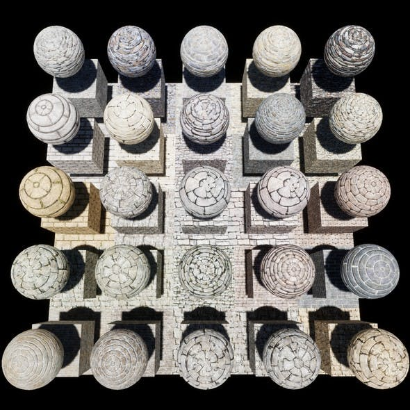 Stone Block Console Materials Package Volume 2 - 3DOcean Item for Sale