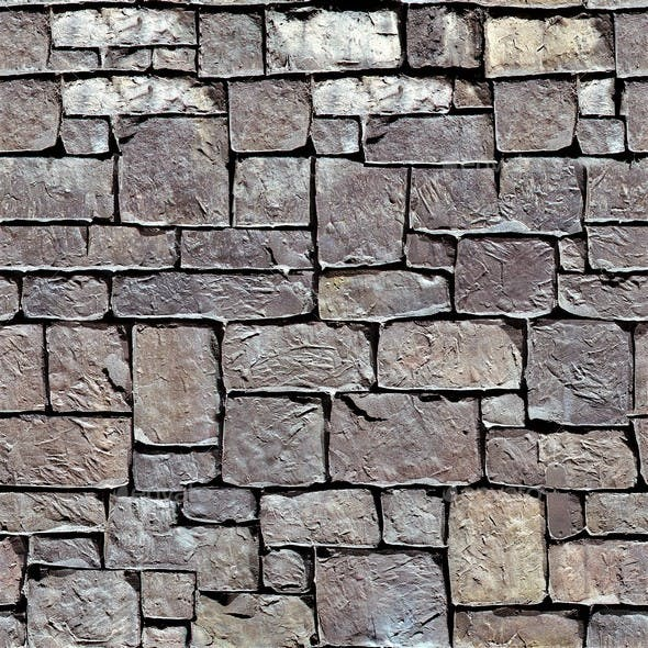 Stone Block Seamless Texture Set Volume 2 - 3DOcean Item for Sale