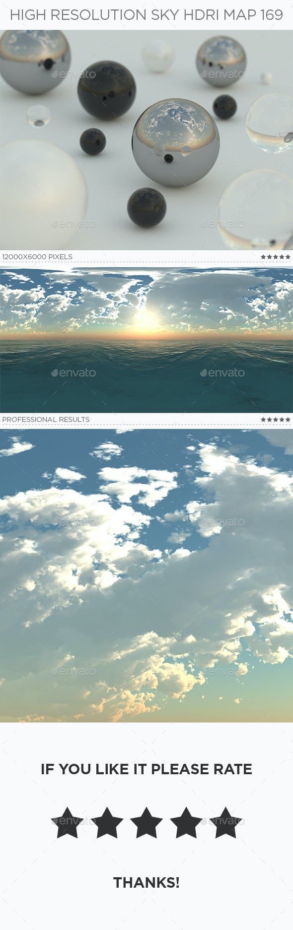 High Resolution Sky HDRi Map 169 - 3DOcean Item for Sale
