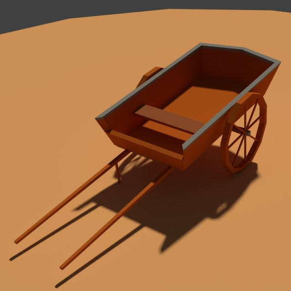 Low Poly Farm Cart - 3DOcean Item for Sale