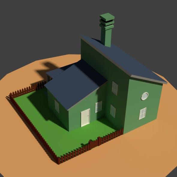 Low Poly Farm House 2