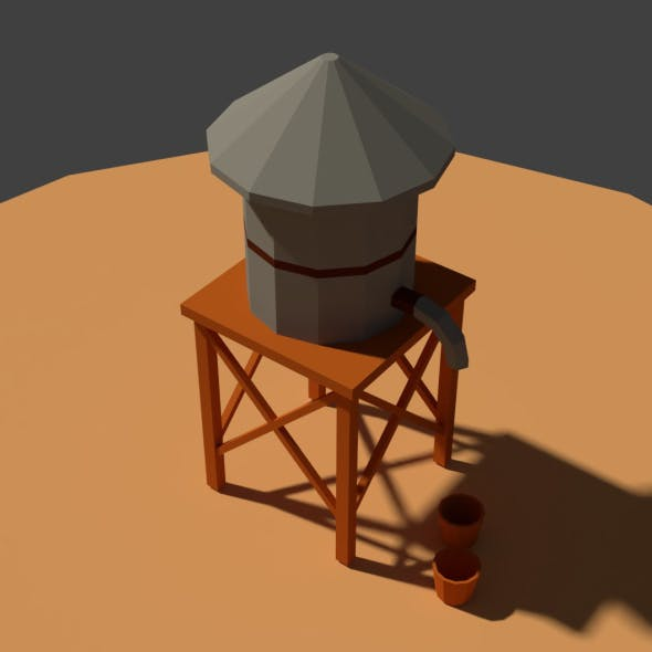 Low Poly Farm Well