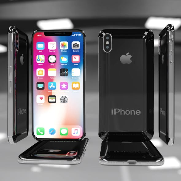 iPhone X Low Poly 0.5Mb