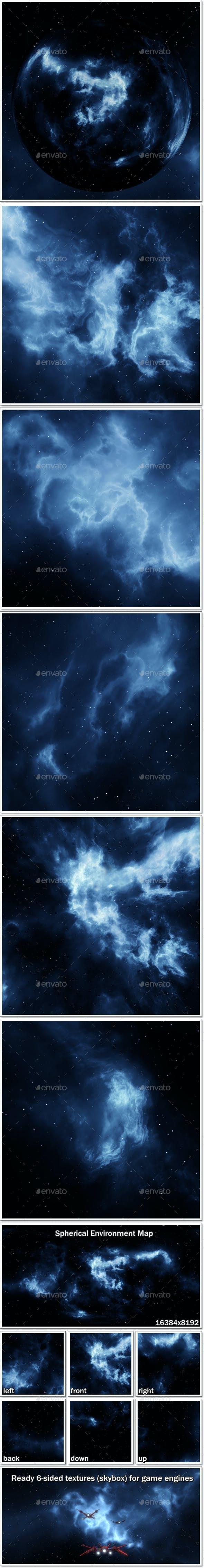 Nebula Space Environment HDRI Map 008 - 3DOcean Item for Sale