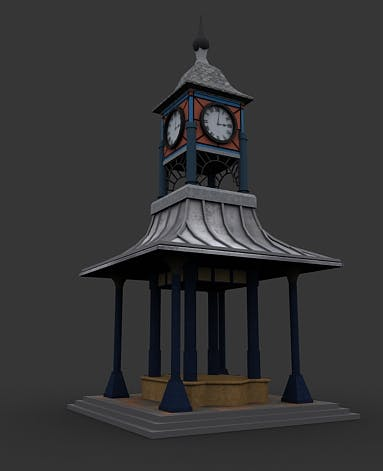 Clock Tower - 3DOcean Item for Sale