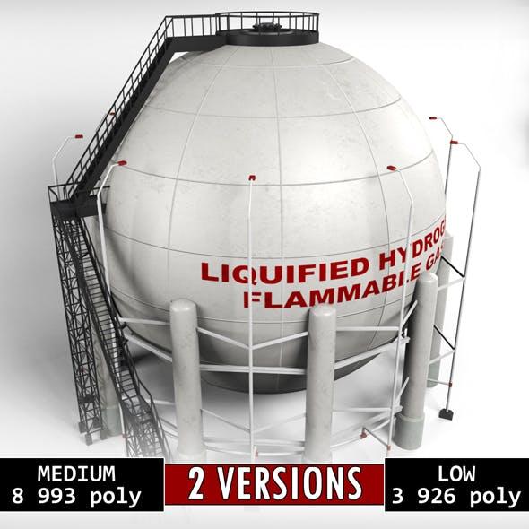 Industrial Sphere Tank Oil - 3DOcean Item for Sale