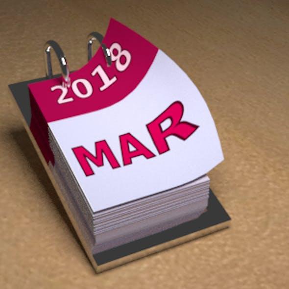 Animated Desk Calendar