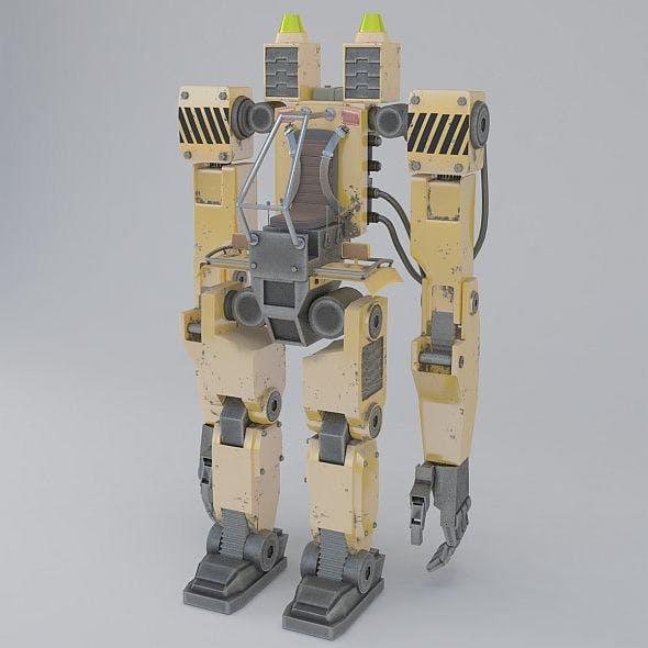 robodozer machine - 3DOcean Item for Sale