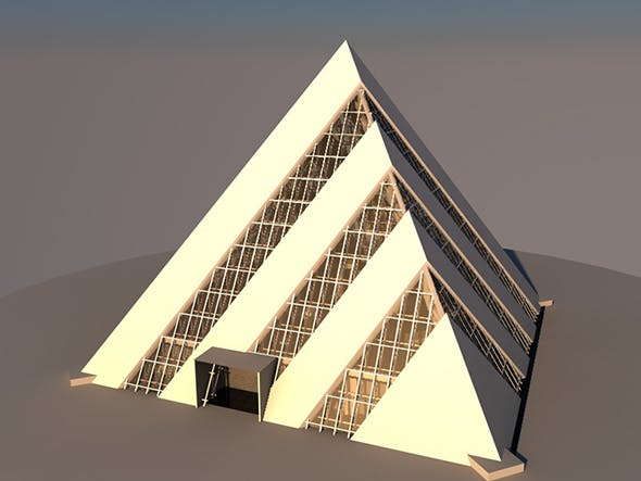 Pyramid building with interior - 3DOcean Item for Sale