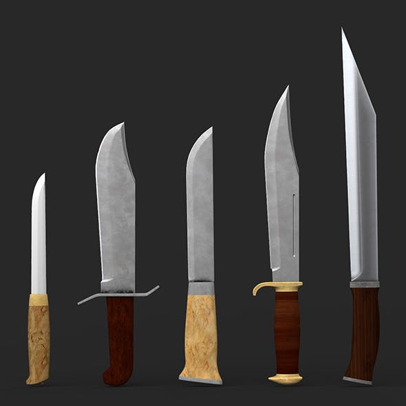Bowie Knife Collection - 3DOcean Item for Sale