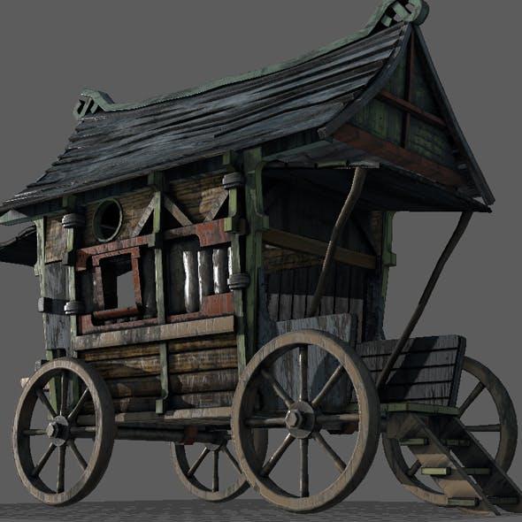Fancy Medieval Caravan - 3DOcean Item for Sale