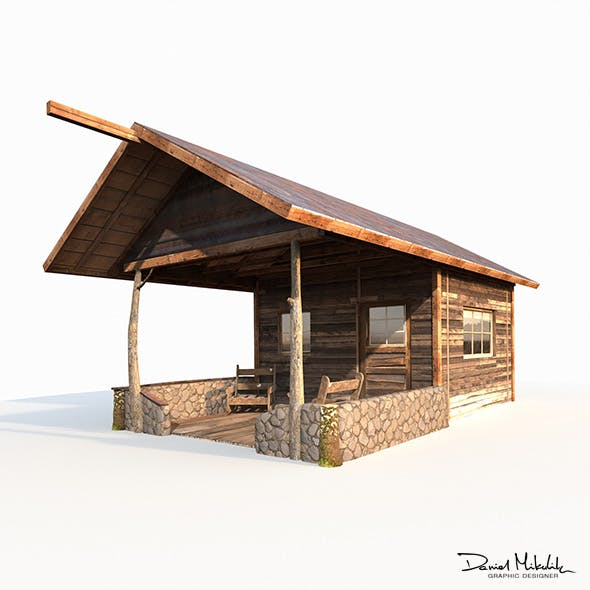Small Old Shanty Low Poly - 3DOcean Item for Sale