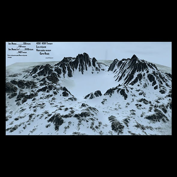 snow volcano - 3DOcean Item for Sale