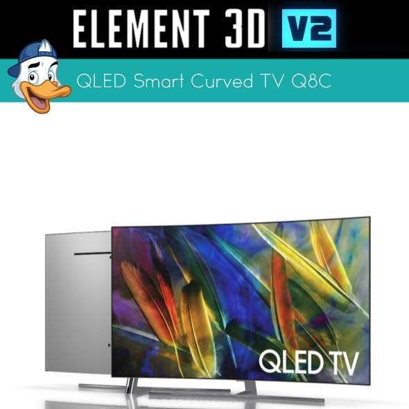 QLED Smart Curved TV Q8C for Element 3D