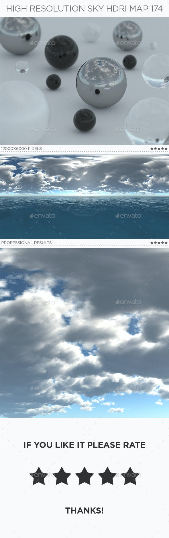 High Resolution Sky HDRi Map 174 - 3DOcean Item for Sale