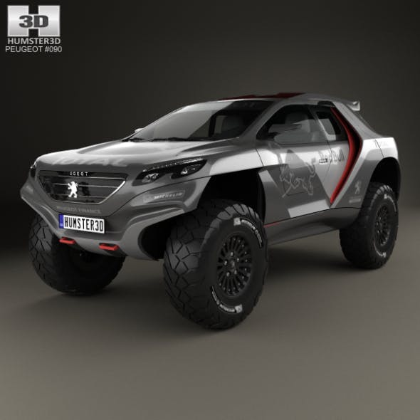 Peugeot 2008 DKR 2014 - 3DOcean Item for Sale
