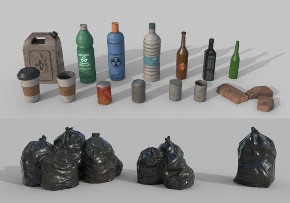 Urban Garbage - 3DOcean Item for Sale