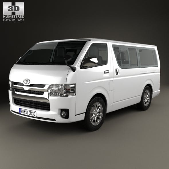 Toyota Hiace LWB Combi with HQ interior 2013 - 3DOcean Item for Sale