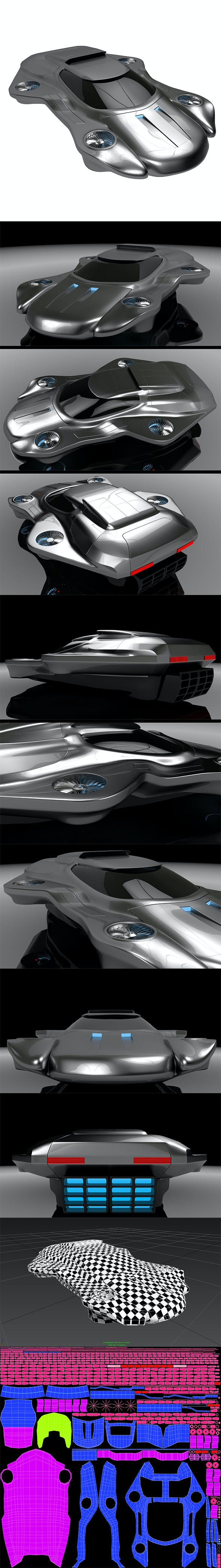 Air machine hover car - 3DOcean Item for Sale