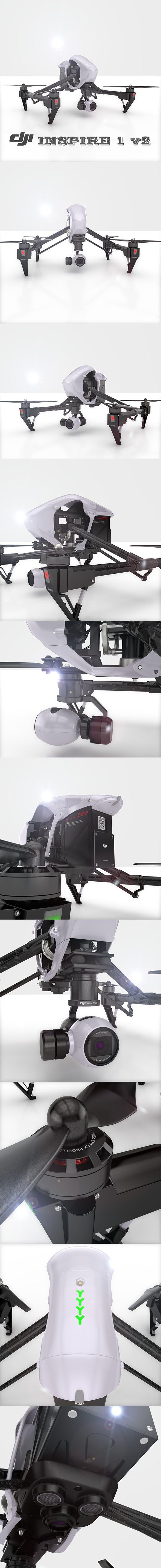 DJI Inspire1 Drone - 3DOcean Item for Sale