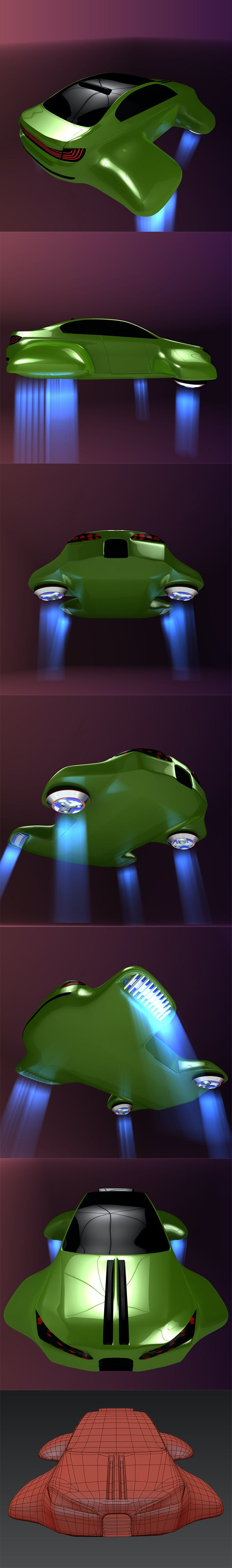 Hover car BF - 3DOcean Item for Sale