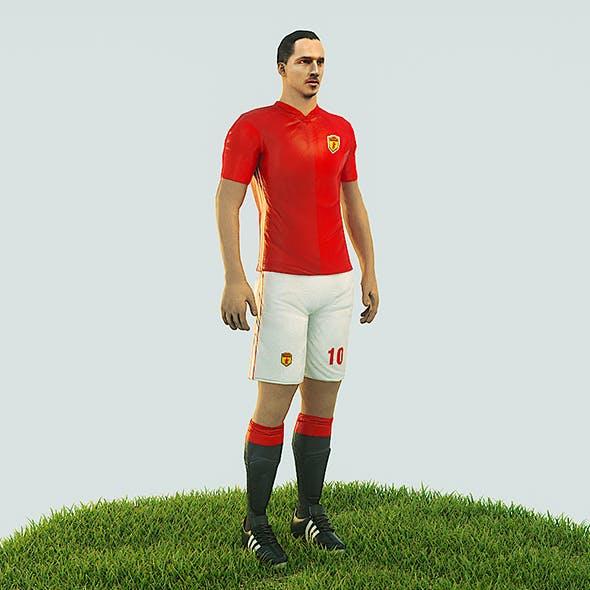 Ibrahimovic football Player game ready character