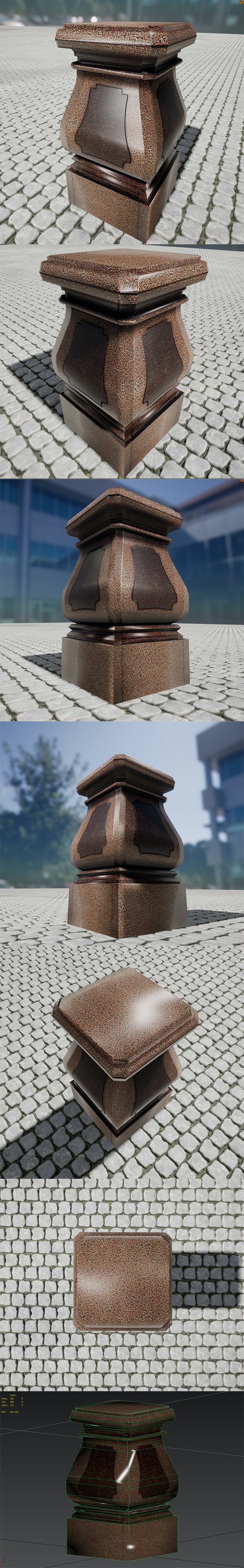 Monument Low Poly model - 3DOcean Item for Sale