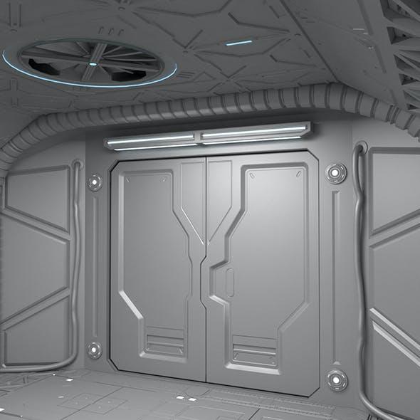 Sci-Fi hall environment
