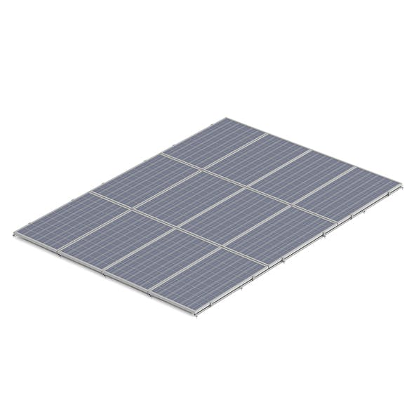 Large Solar Panel 3D Model - 3DOcean Item for Sale