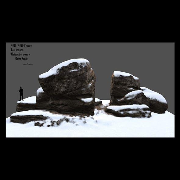 snow rock 1 - 3DOcean Item for Sale